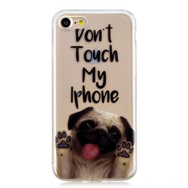 Dont Touch My iPhone Pug Cover iPhone SE 2020 / 8 / 7