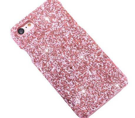 iPhone 8 Plus & 7 Plus Powder Glitter Cover Pink