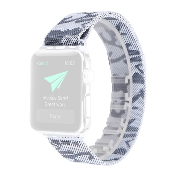 Metal Strap for Apple Watch 42mm & 44mm Camo Silver