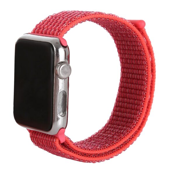 Nylon Strap for Apple Watch Compatible with 42mm & 44mm Rose Red