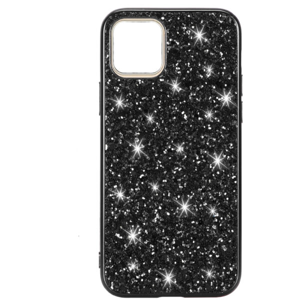 Black Powder Glitter Cover for iPhone 11 Pro