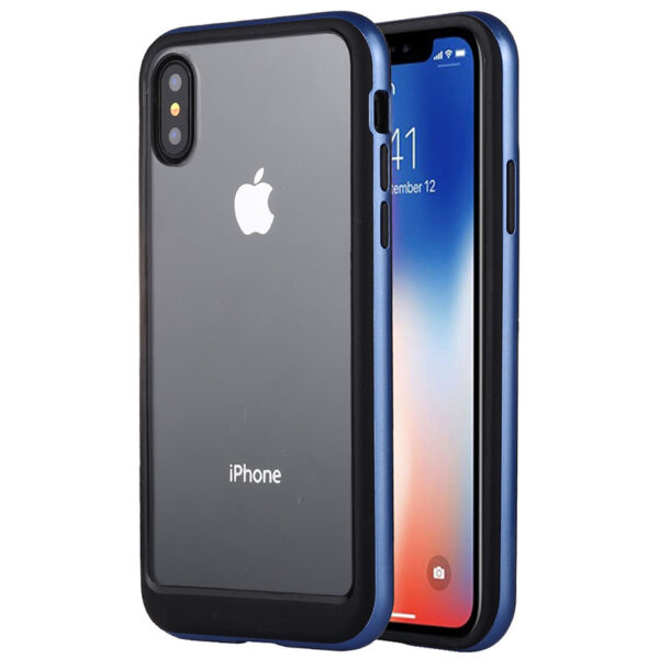 Bumper Cover for iPhone XS Max Transparent Blue
