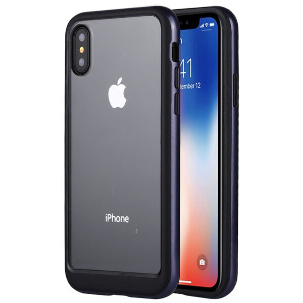 Bumper Cover for iPhone XS Max Transparent Grey
