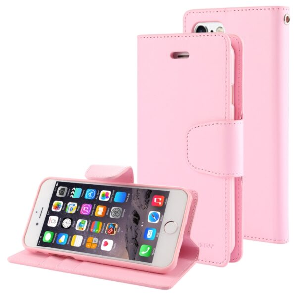 Flip Cover With Card Slots iPhone 8 Plus & 7 Plus Pink