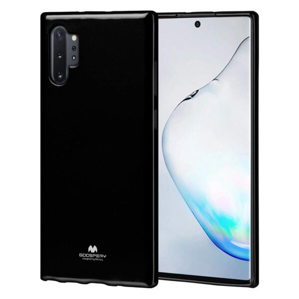 Jelly Cover for Galaxy Note 10 Plus Jet Black