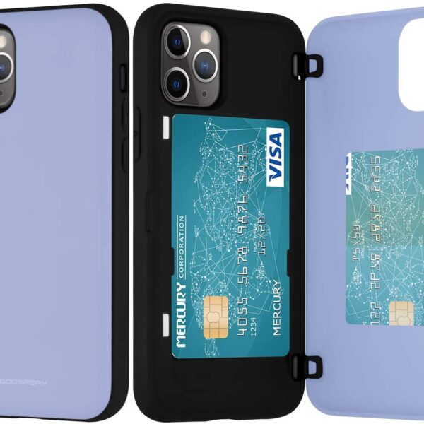 Magnetic Back Card Slot Cover iPhone 11 Pro Max Lilac
