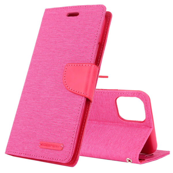 Flip Canvas Cover With Card Slots iPhone 11