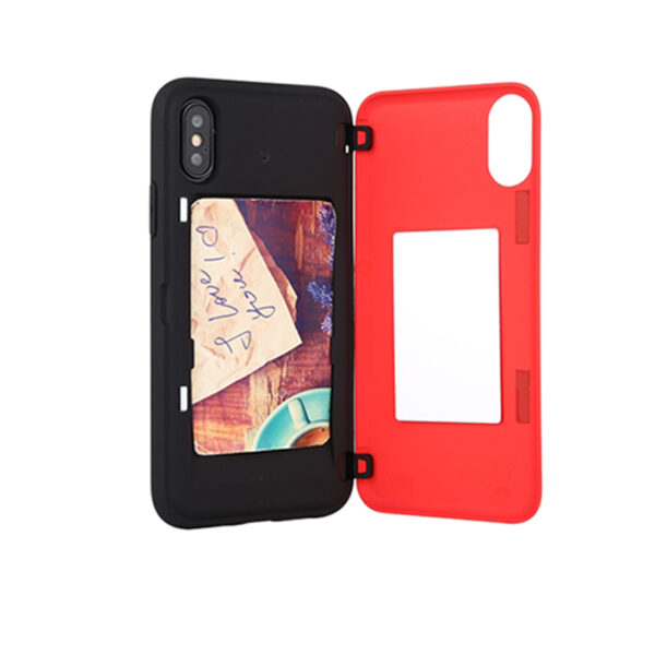 Magnetic Back Card Slot Cover iPhone X & XS Red