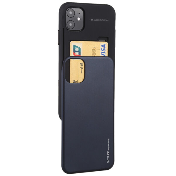Slide Cover With Card Slot iPhone 11 Black