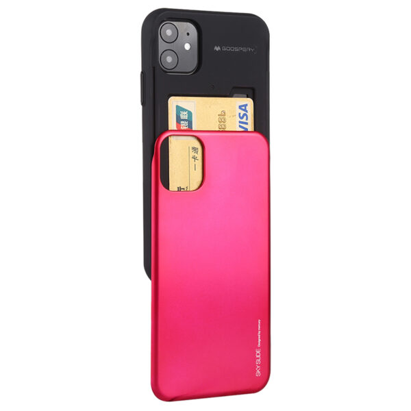 Slide Cover With Card Slot iPhone 11 Hot Pink