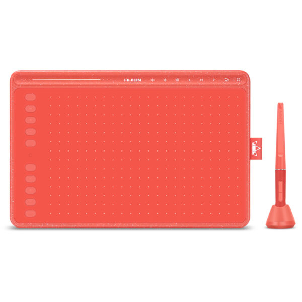 Huion HS611 Drawing Graphic Tablet - Coral Red