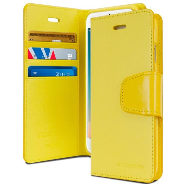 Flip Cover Wallet With Card Slots iPhone SE 2020/8/7 Yellow