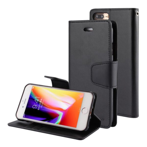 Flip Cover With Card Slots iPhone 8 Plus & 7 Plus Black