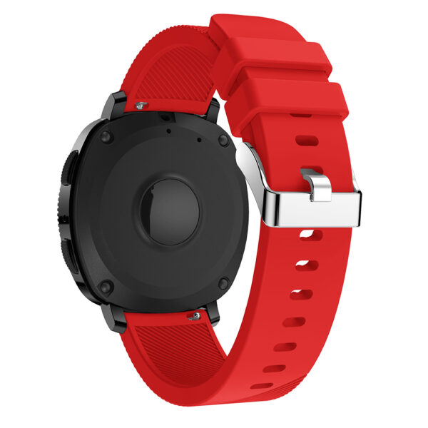 Universal Rugged Silicone Watch Strap 20mm Red