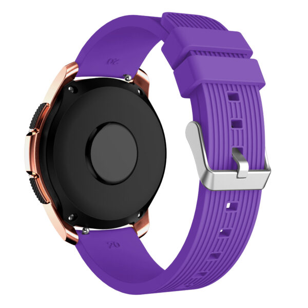 Universal Rugged Silicone Watch Strap 20mm Purple
