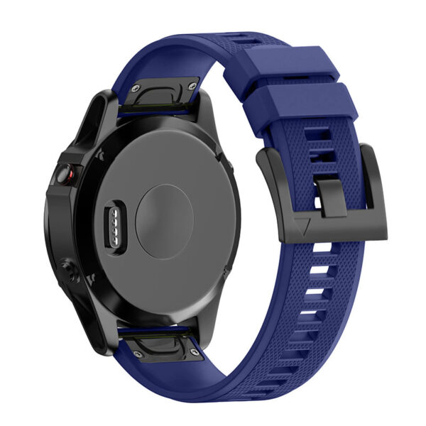 Quick Release Silicone Sports Band Strap Garmin Fenix 6X/5X/3 26mm Navy