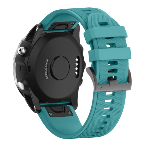 Quick Release Silicone Sports Band Strap Garmin Fenix 5 22mm Teal