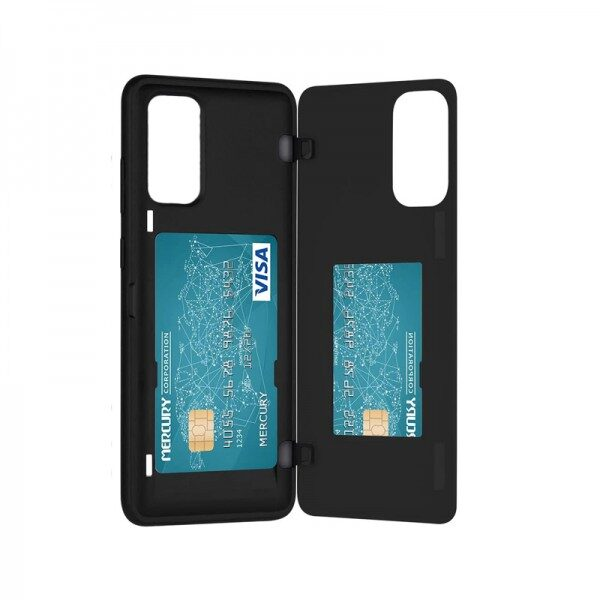 Magnetic Back Card Slot Cover Galaxy Note 20 Ultra Black