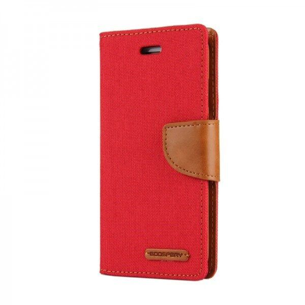 Flip Canvas Cover With Card Slots iPhone 11 Pro Max Red