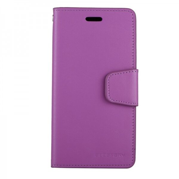 Flip Cover Wallet With Card Slots iPhone Purple