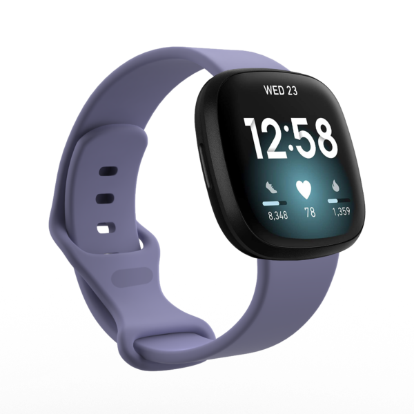 Fitbit Versa 3 & Sense Silicone Watch Strap Band Purple