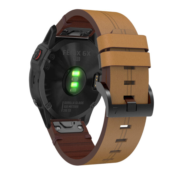 Quick Release Leather Band Strap Garmin Fenix 6 22mm