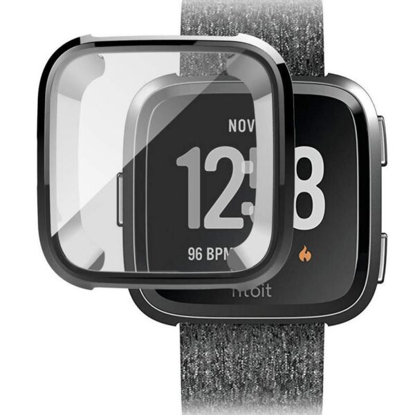 Protective Case and Screen Protector for Fitbit Versa Black