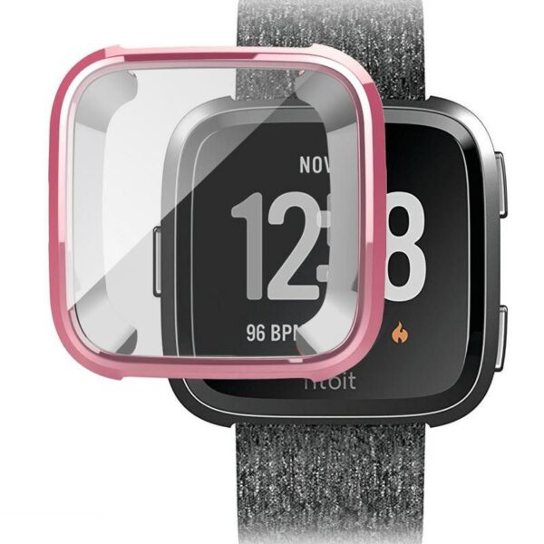 Protective Case and Screen Protector for Fitbit Versa Pink