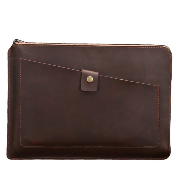 13.3 inch Leather Laptop Sleeve Bag