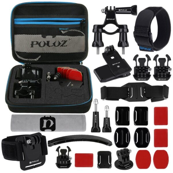 24 in 1 Bike & Outdoor Mount Accessories Combo Kit For Action Cameras