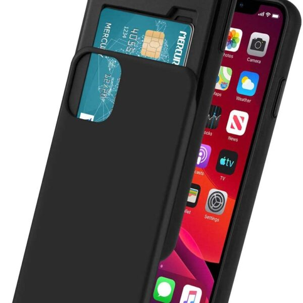 "Slide Cover With Card Slot iPhone 12 Pro Max 6.7"" Black"