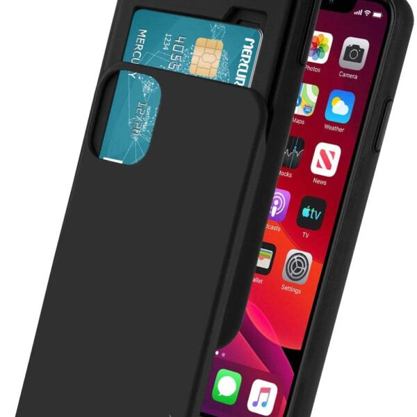"Slide Cover With Card Slot iPhone 12 Mini 5.4"" Black"