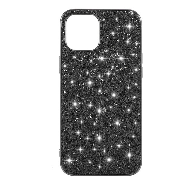 Black Powder Glitter Cover iPhone 12
