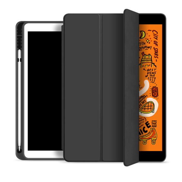 Flip Cover With Pen Holder For iPad Air 4 2020 10.9 Inch Black