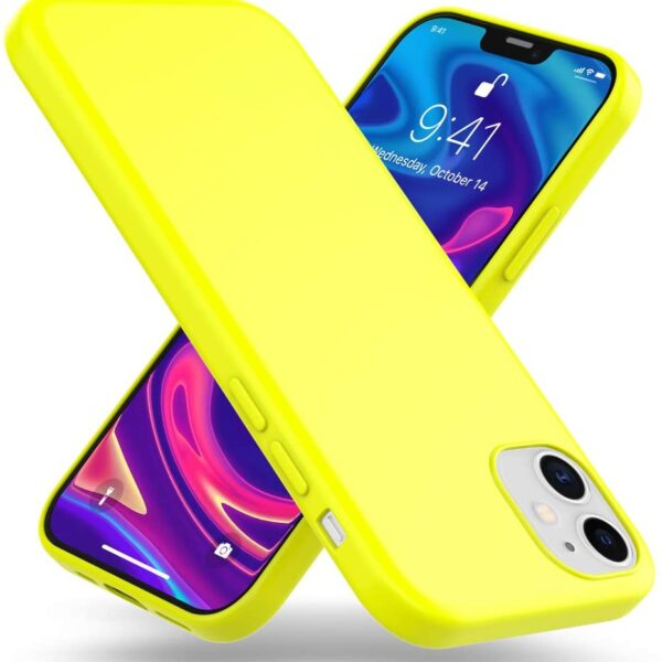 "Jelly Cover iPhone 12 Mini 5.4"" Lumo Yellow"