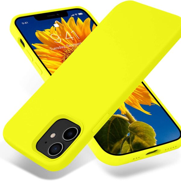 "Jelly Cover iPhone 12 / 12 Pro 6.1"" Lumo Yellow"