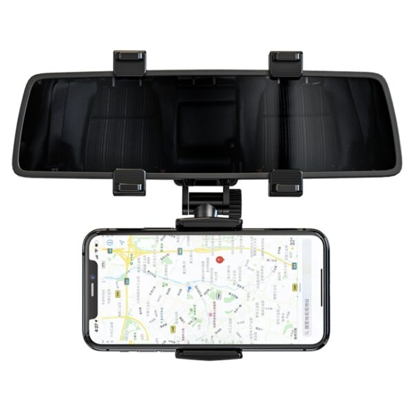 Car Rearview Mirror Phone Mount Holder