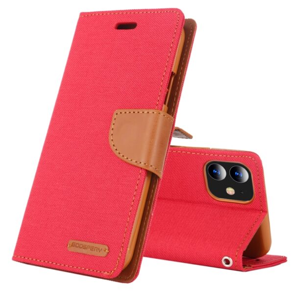"Canvas Diary Cover iPhone 12 Mini 5.4"" Red"
