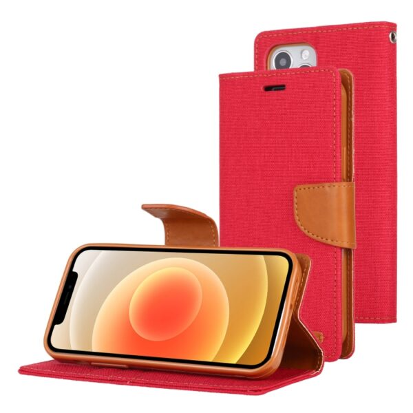 "anvas Diary Cover iPhone 12 / 12 Pro 6.1"" Red"