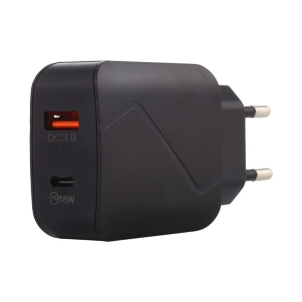 Dual Port 18W QC3.0 Fast Charger Adapter With Display