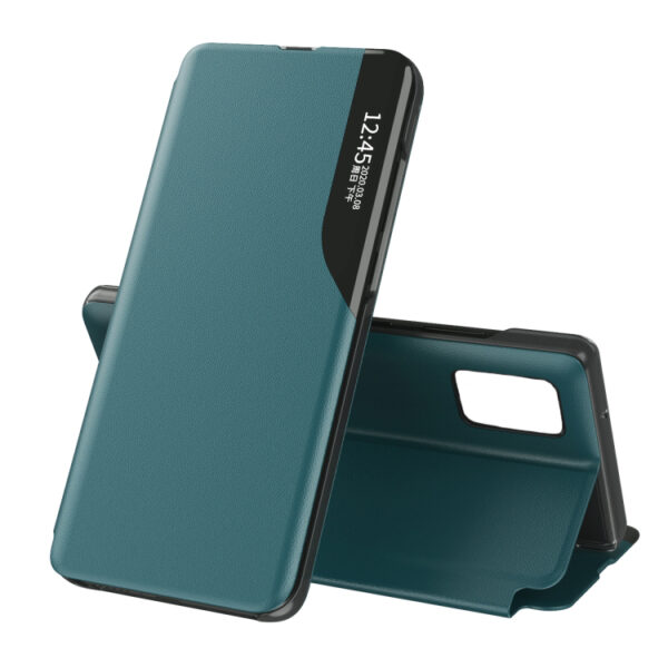 eather Flip Cover With Side Display Note 20