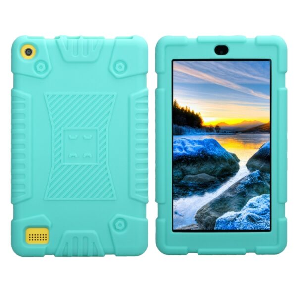 """Kindle Fire 7"""" 2017 Shockproof Silicone Cover Mint"""
