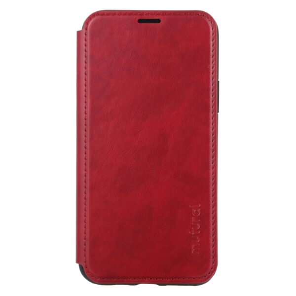 Flip Leather Cover With Card Slot iPhone 12 Mini 5.4 inch Red