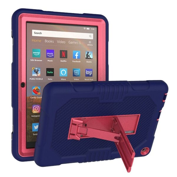 Shockproof Cover For Kindle Fire HD 8 2020 Blue Pink