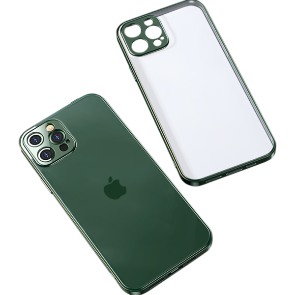 Joyroom Transparent Cover & Lens Protector iPhone 12 6.1 inch Green