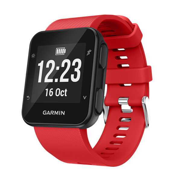 Silicone Replacement Band for Garmin Forerunner 35 Red