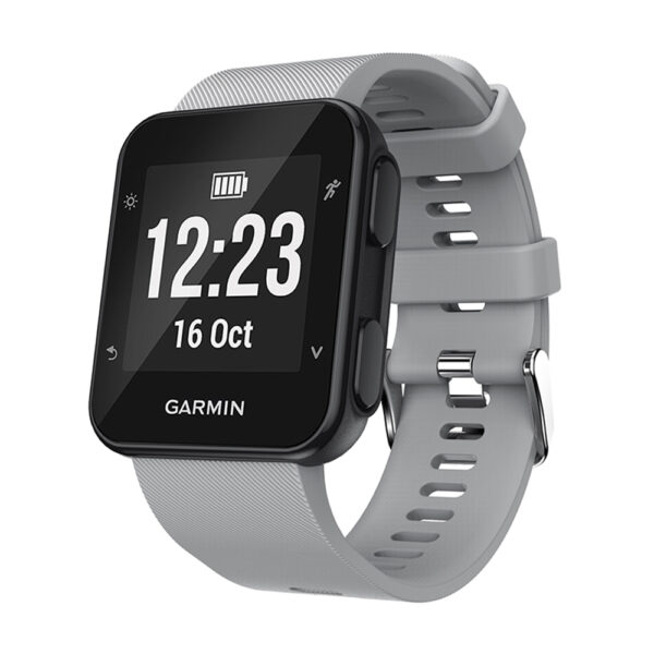 Silicone Replacement Band for Garmin Forerunner 35 Grey