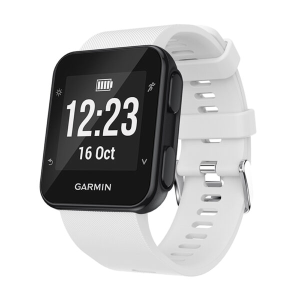 Silicone Replacement Band for Garmin Forerunner 35 White