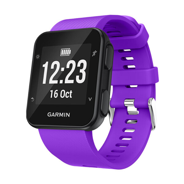 Silicone Replacement Band for Garmin Forerunner 35 Purple