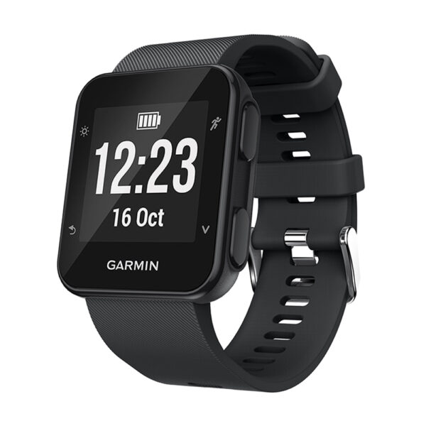 Silicone Replacement Band for Garmin Forerunner 35 Black